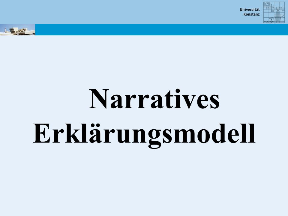 Narratives Erklärungsmodell