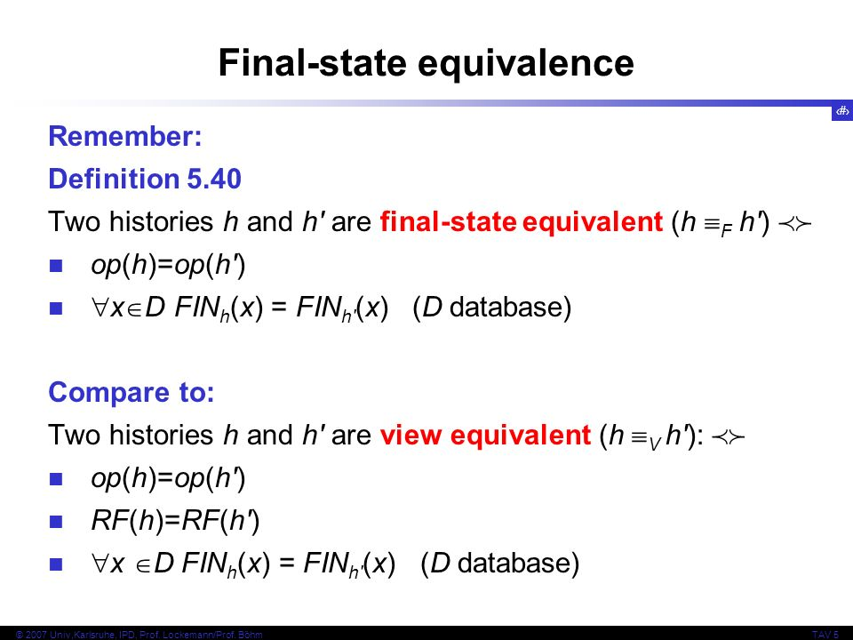 Final-state equivalence