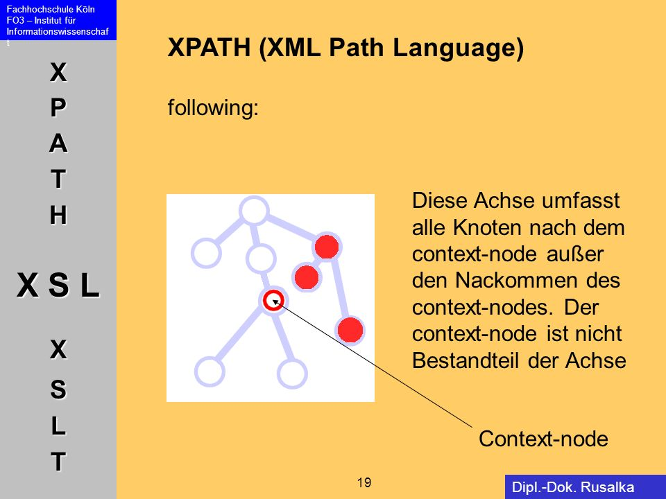 XPATH (XML Path Language) following: