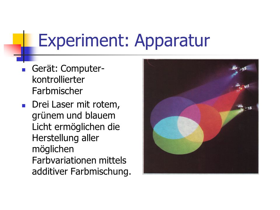 Experiment: Apparatur