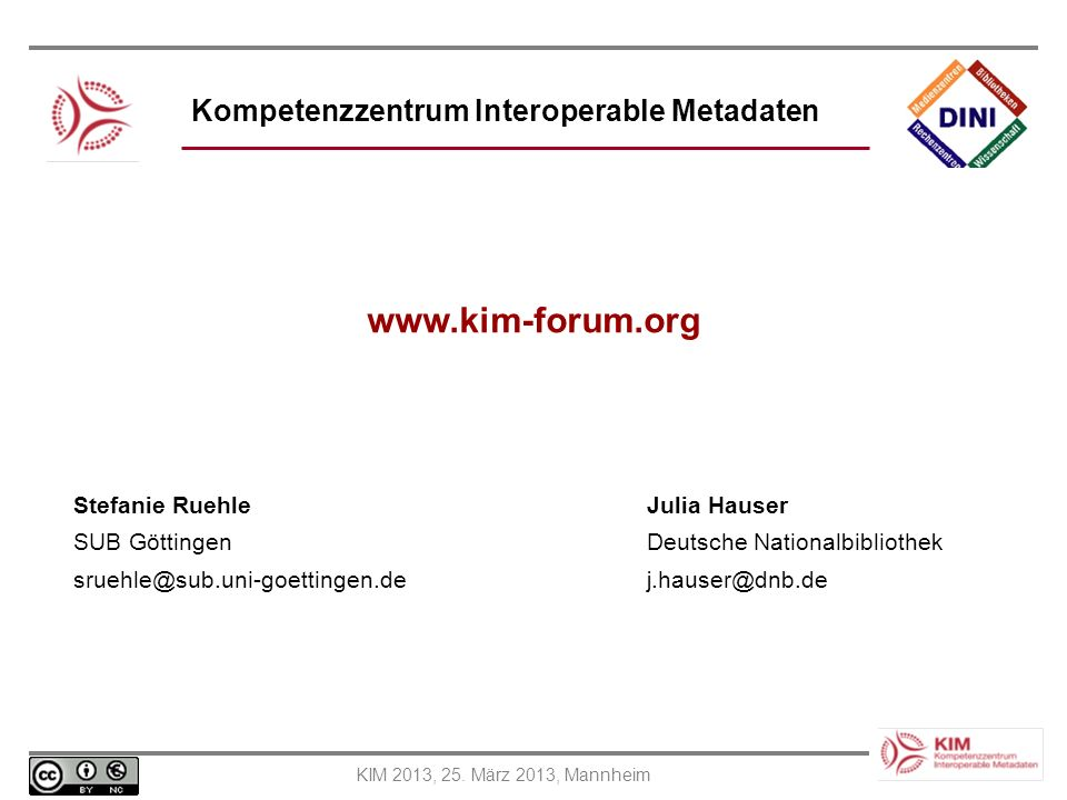Kompetenzzentrum Interoperable Metadaten