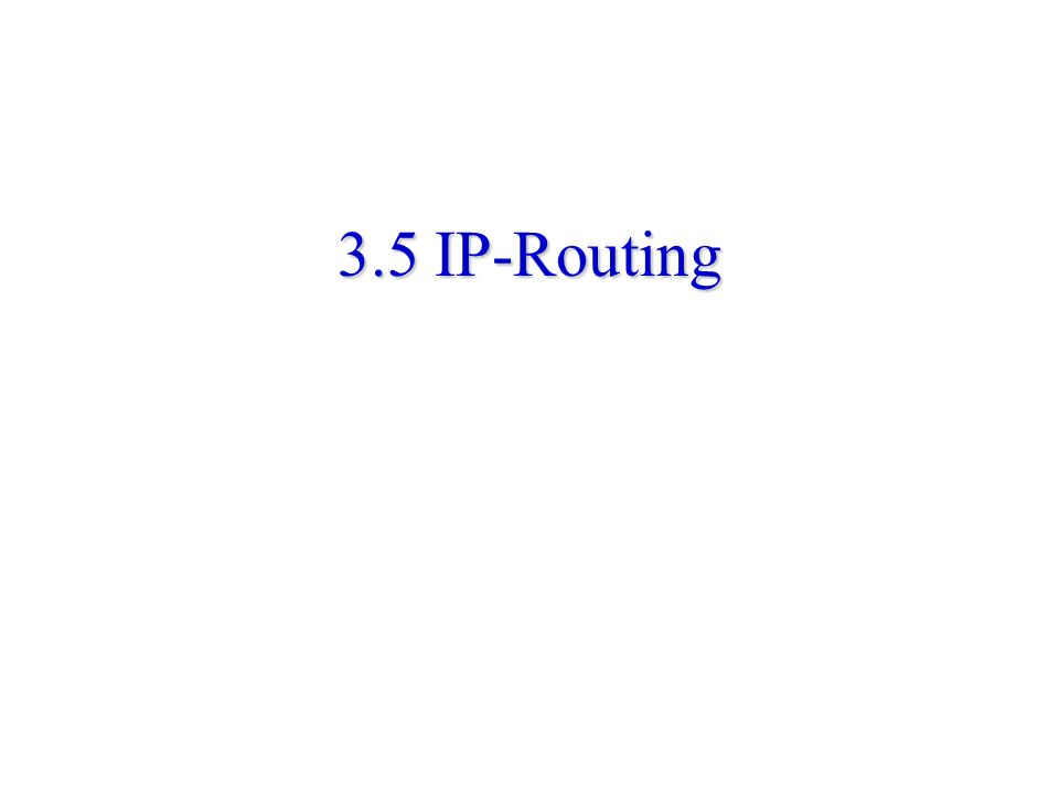 3.5 IP-Routing