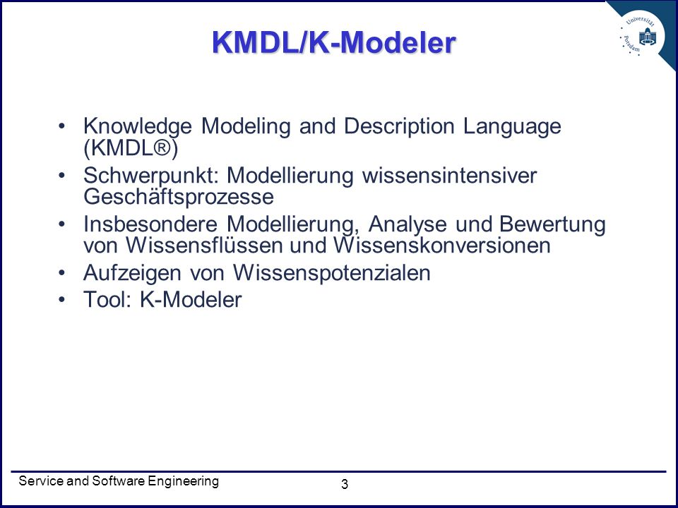 KMDL/K-Modeler Knowledge Modeling and Description Language (KMDL®)