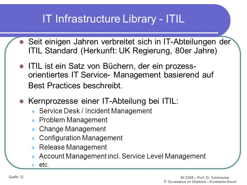 IT Infrastructure Library - ITIL