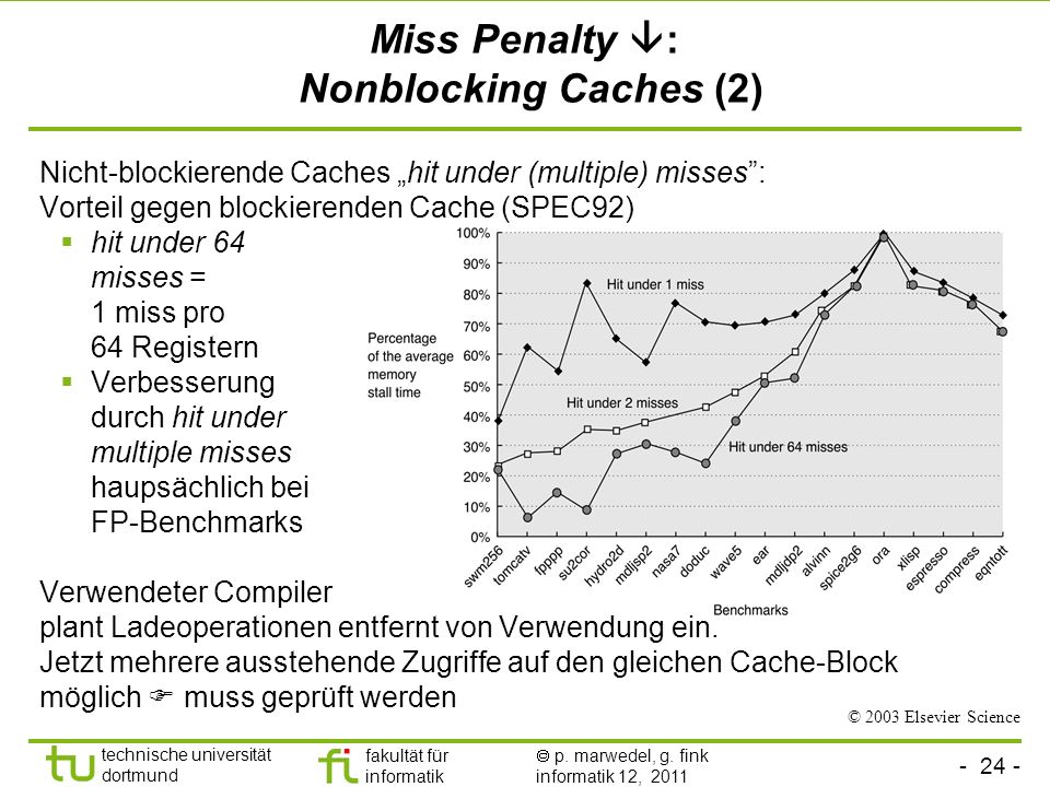 Miss Penalty : Nonblocking Caches (2)