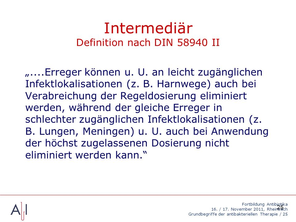 Intermediär Definition nach DIN II