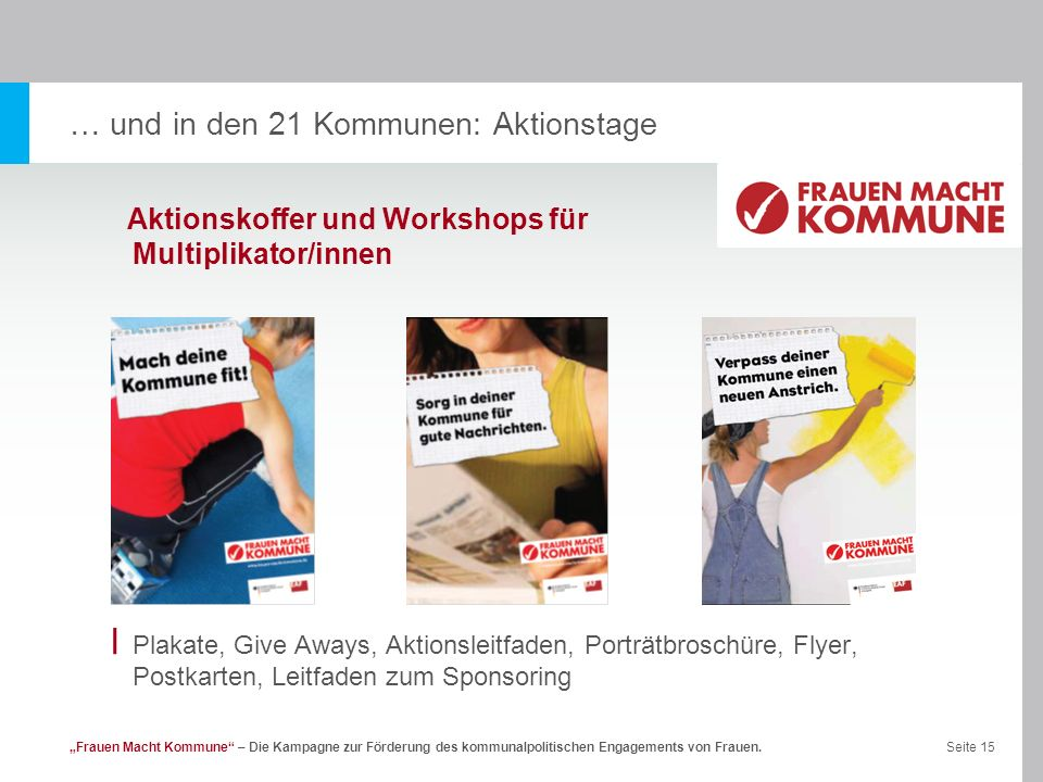 … und in den 21 Kommunen: Aktionstage