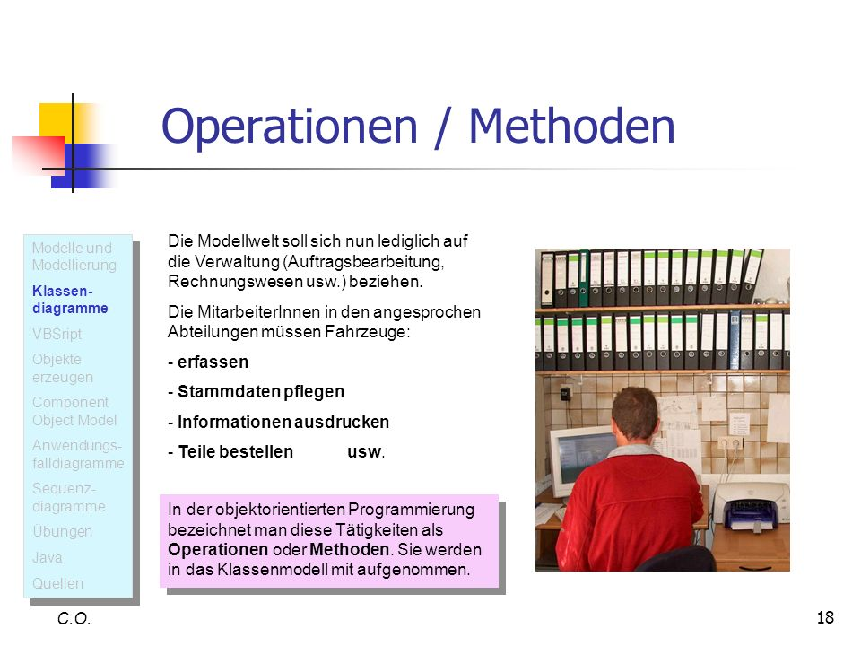 Operationen / Methoden