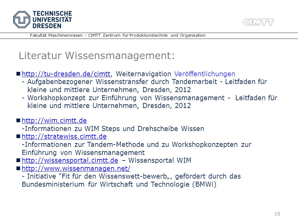 Literatur Wissensmanagement: