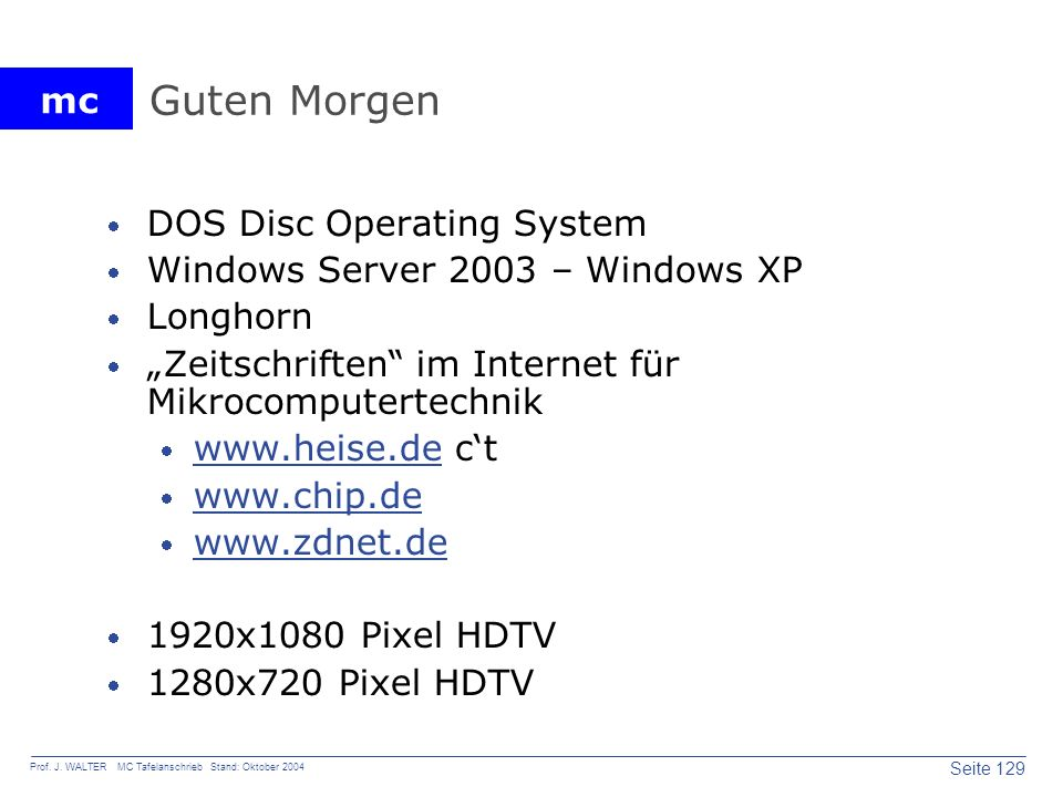 Guten Morgen DOS Disc Operating System