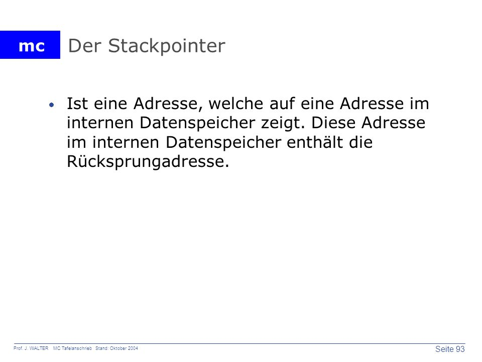 Der Stackpointer