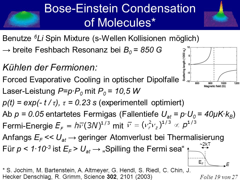 Bose-Einstein Condensation of Molecules*