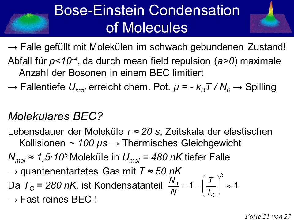 Bose-Einstein Condensation of Molecules
