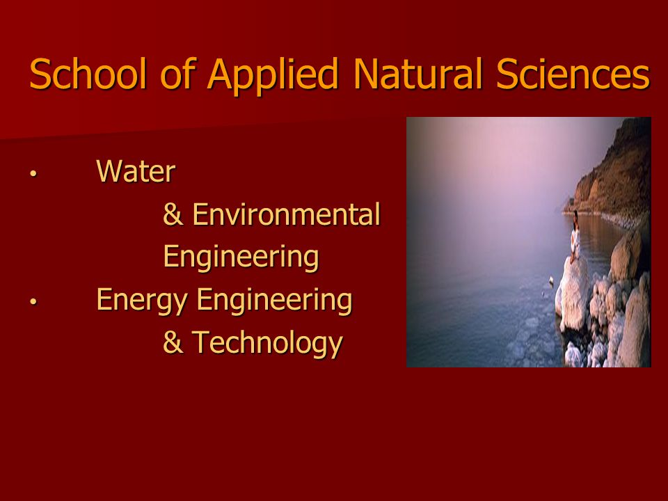 School of Applied Natural Sciences