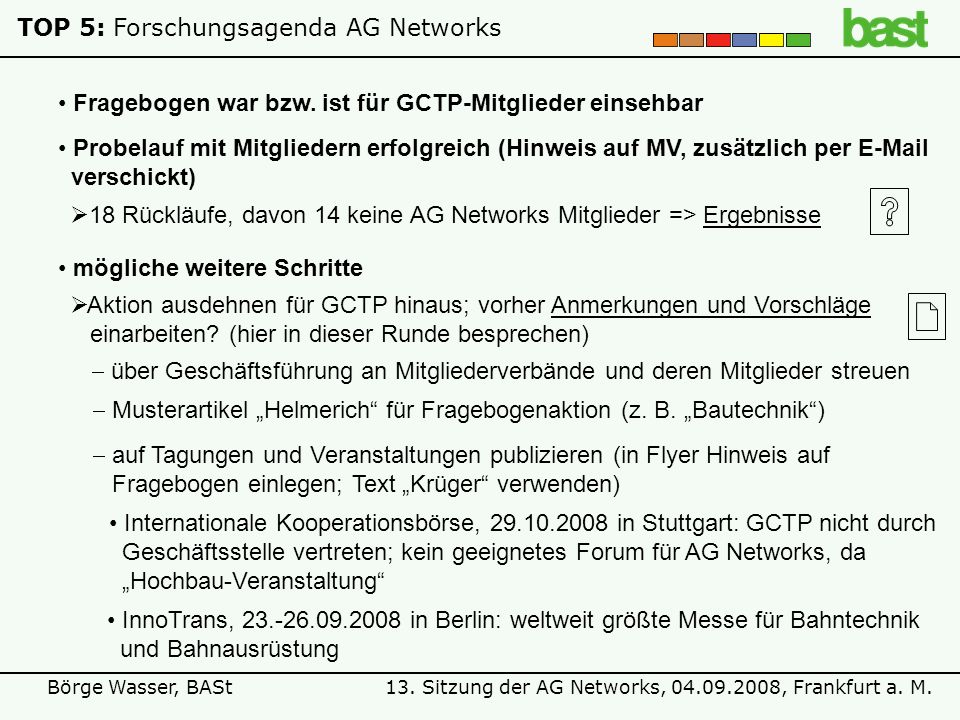 TOP 5: Forschungsagenda AG Networks