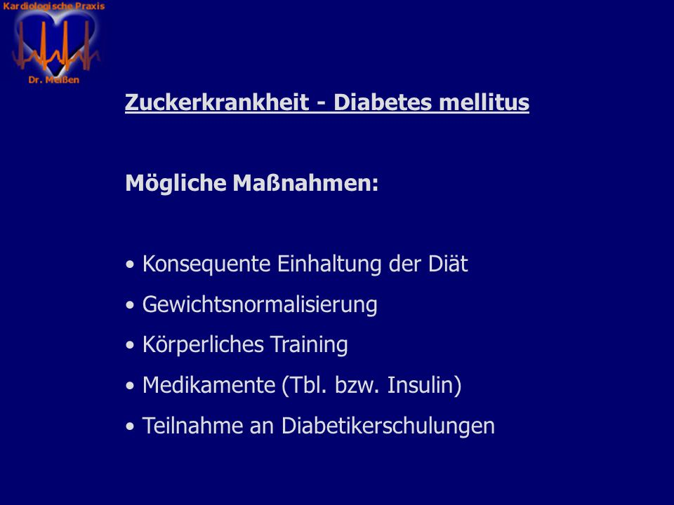 Zuckerkrankheit - Diabetes mellitus