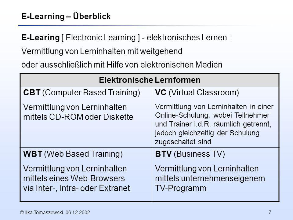 E-Learning – Überblick