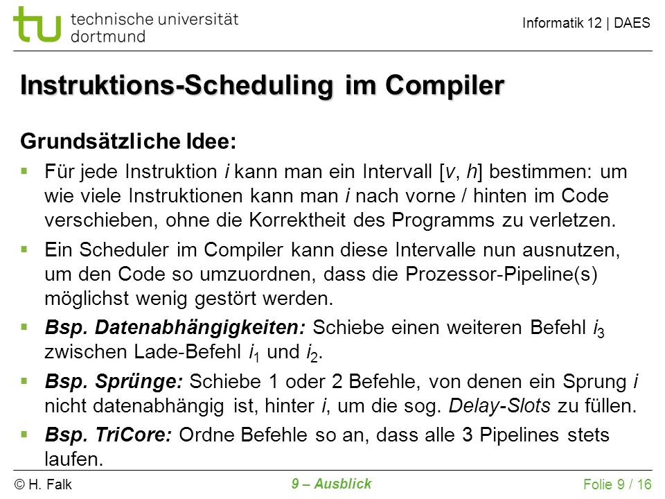 Instruktions-Scheduling im Compiler