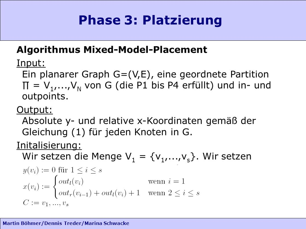 Phase 3: Platzierung Algorithmus Mixed-Model-Placement