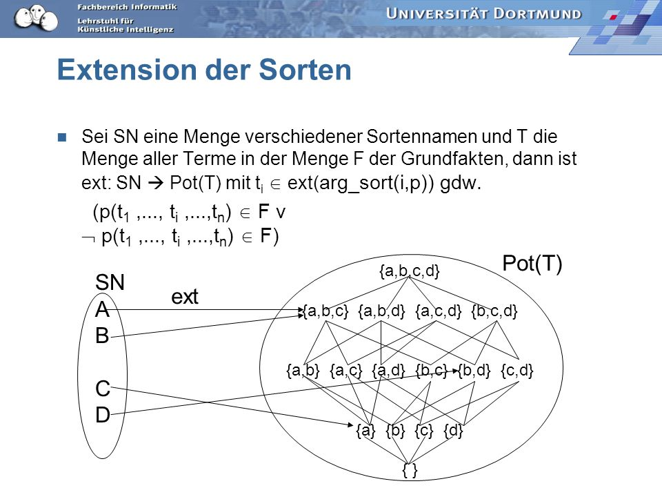 Extension der Sorten Pot(T) SN A ext B C D