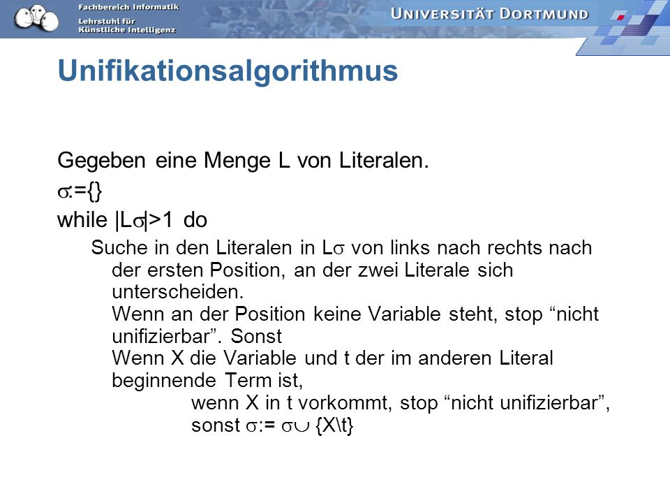 Unifikationsalgorithmus