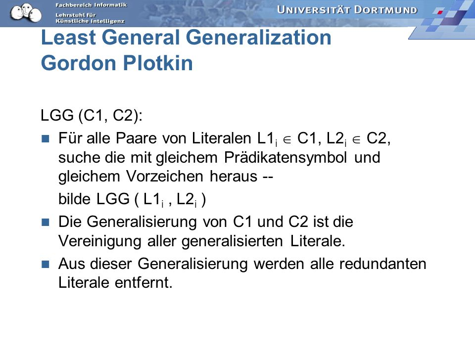 Least General Generalization Gordon Plotkin