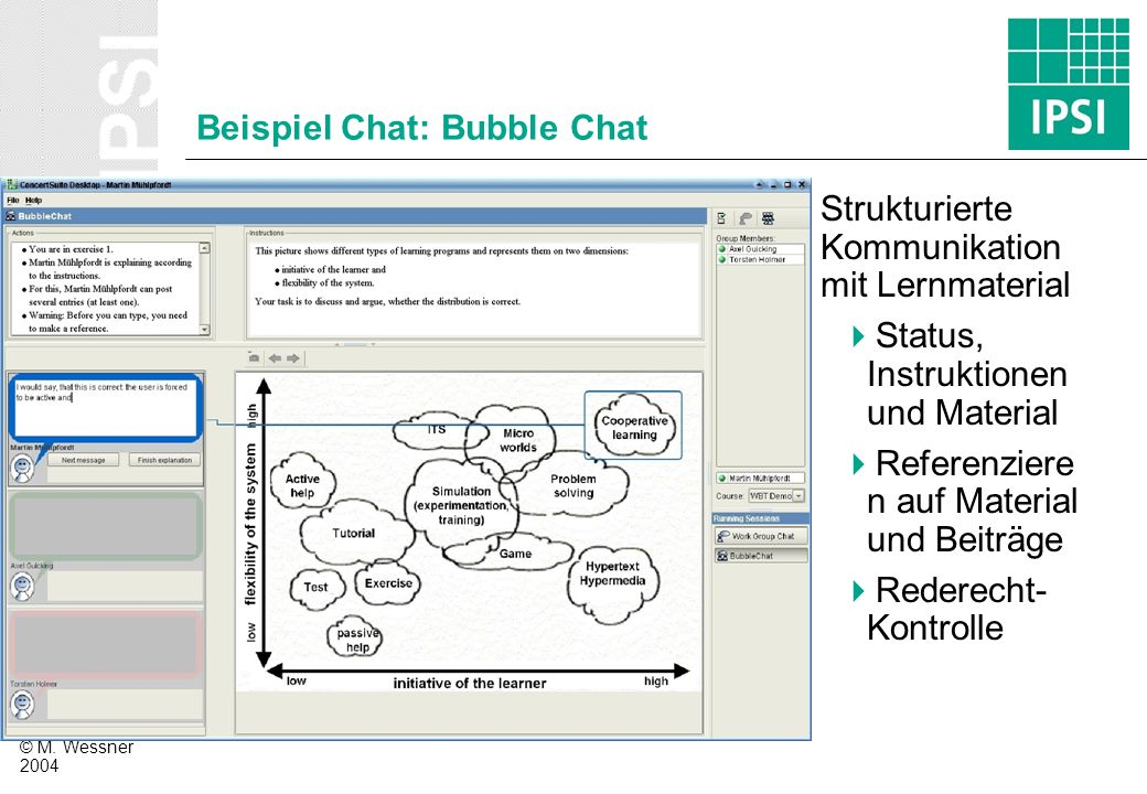 Beispiel Chat: Bubble Chat
