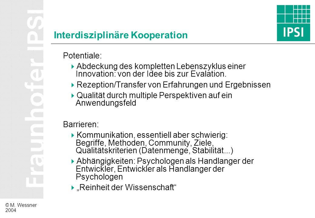 Interdisziplinäre Kooperation