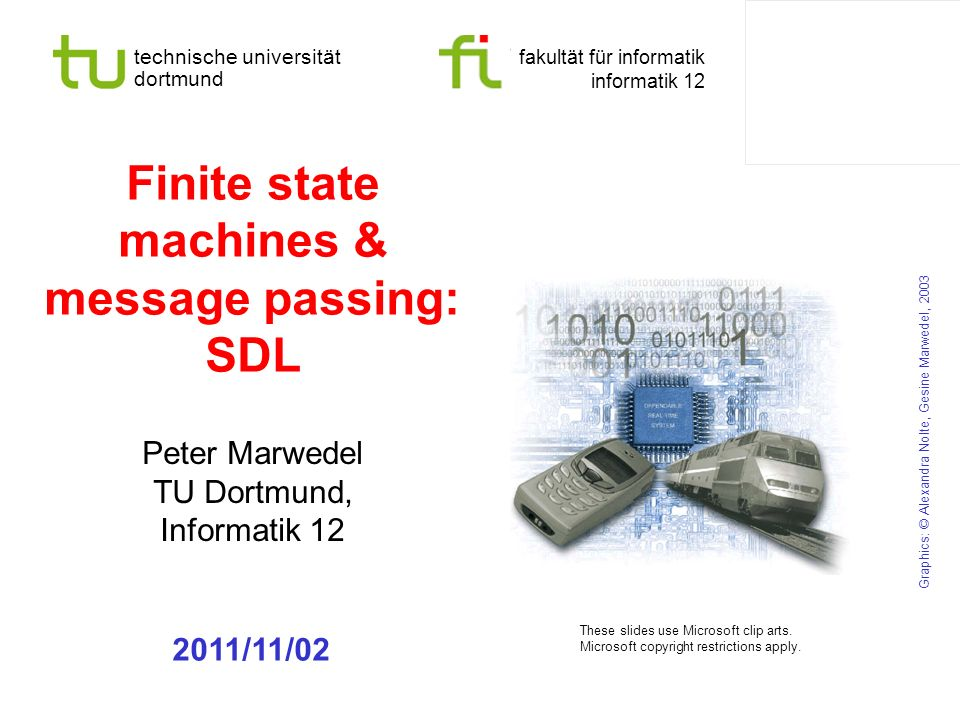 Finite state machines & message passing: SDL