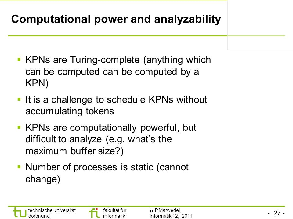 Computational power and analyzability