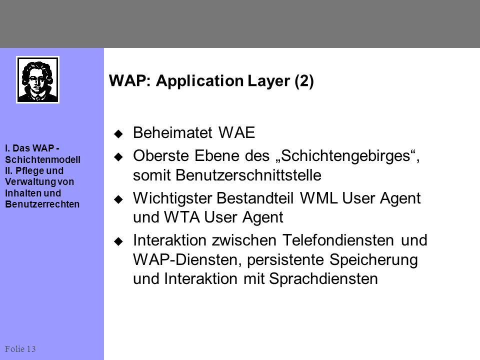 WAP: Application Layer (2)
