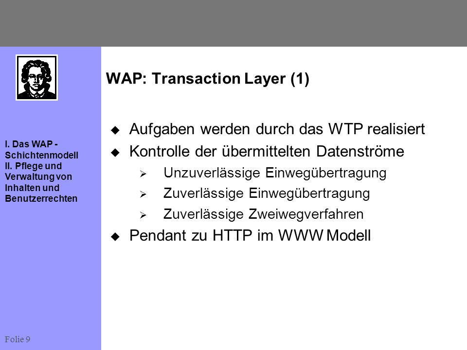WAP: Transaction Layer (1)