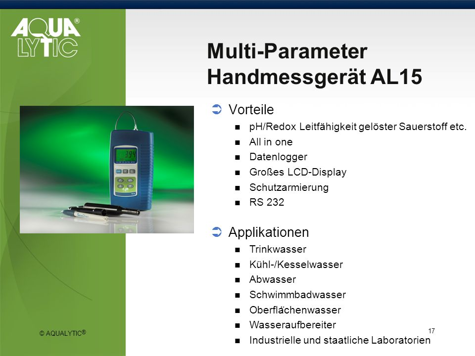 Multi-Parameter Handmessgerät AL15