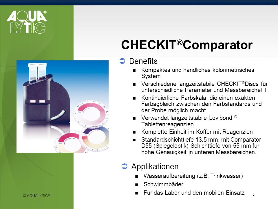 CHECKIT®Comparator Benefits Applikationen
