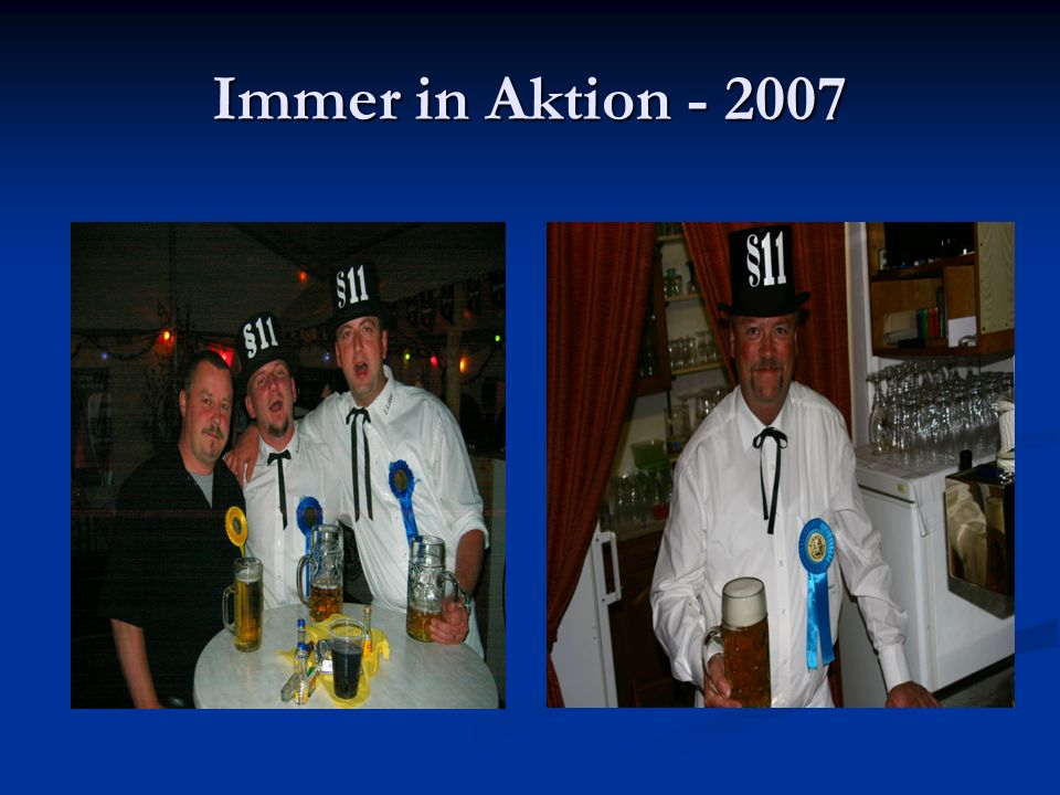 Immer in Aktion