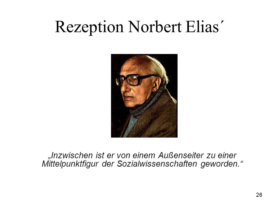 Rezeption Norbert Elias´