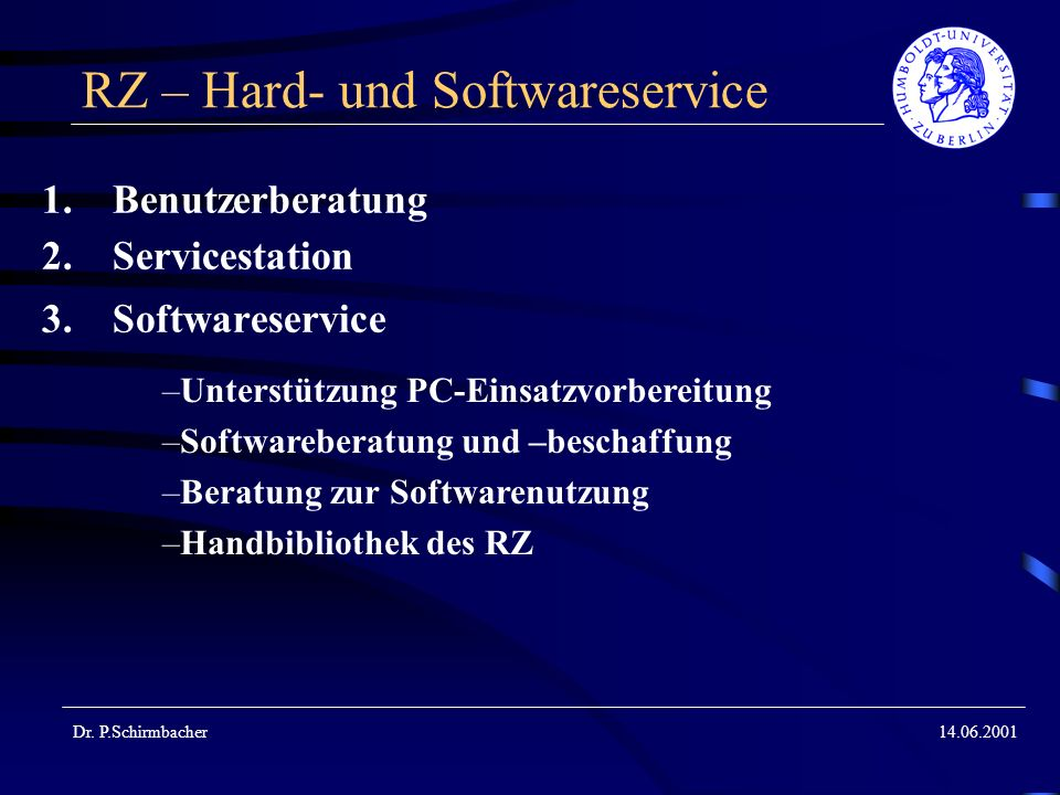 RZ – Hard- und Softwareservice