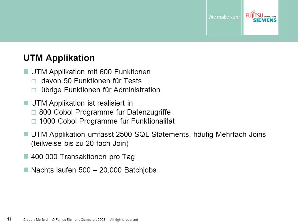 UTM Applikation UTM Applikation mit 600 Funktionen