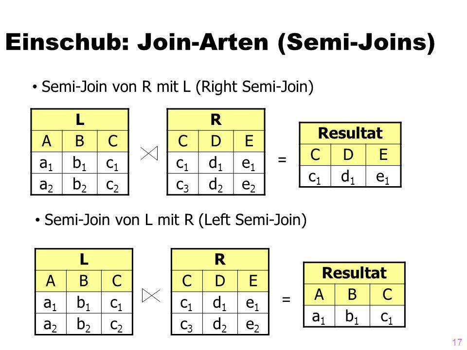 Einschub: Join-Arten (Semi-Joins)
