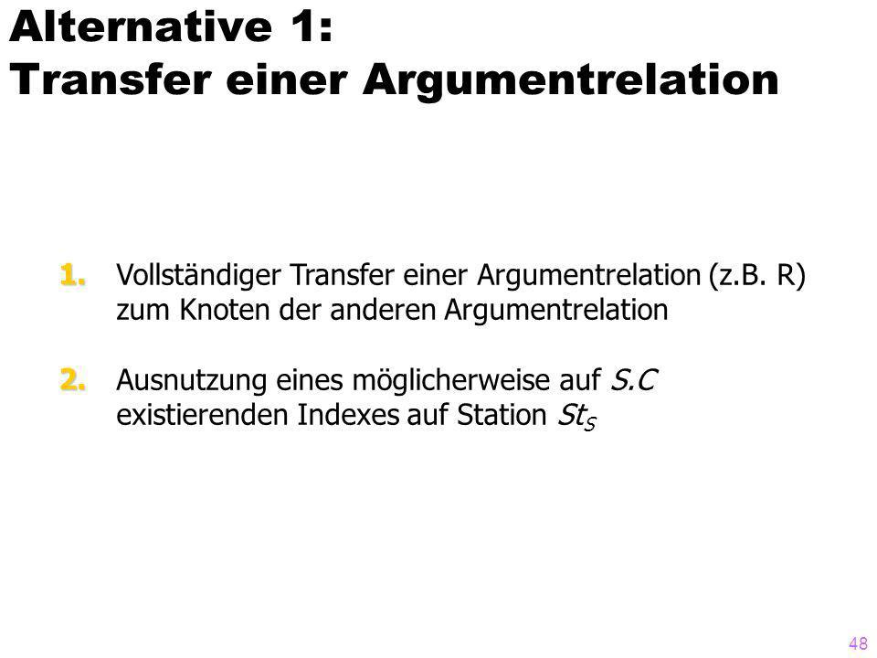 Alternative 1: Transfer einer Argumentrelation