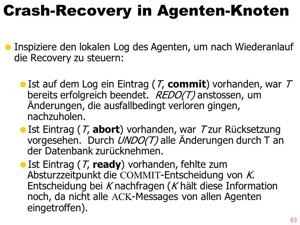 Crash-Recovery in Agenten-Knoten