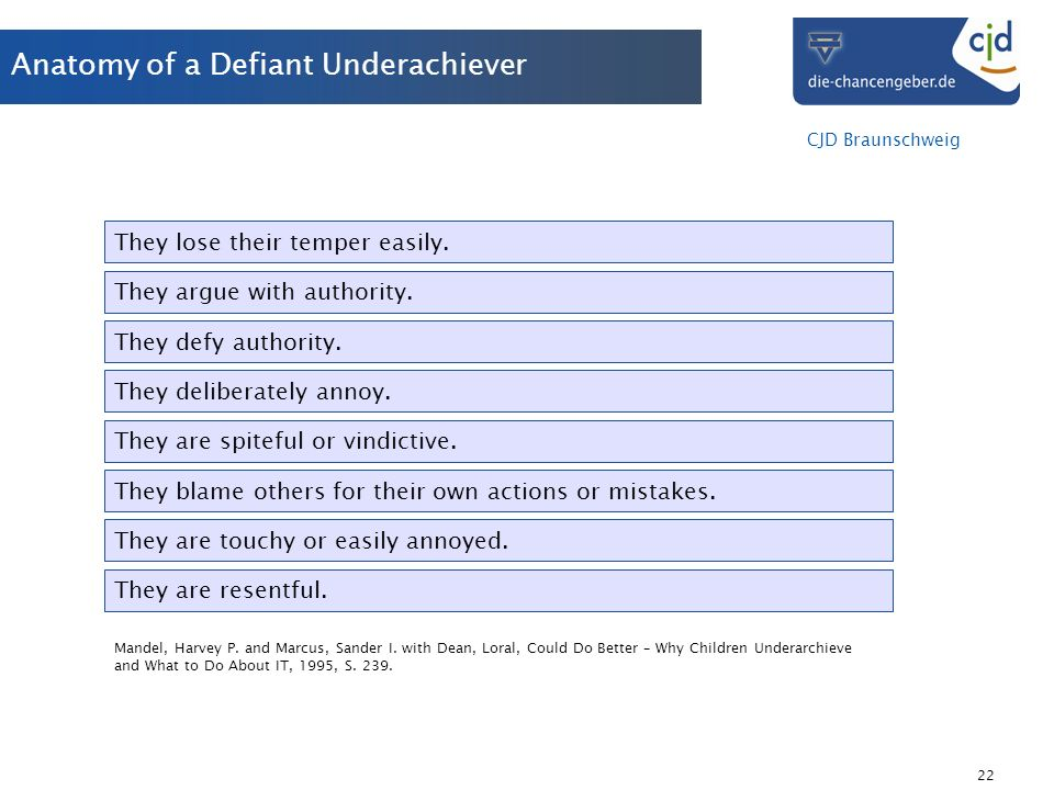Anatomy of a Defiant Underachiever