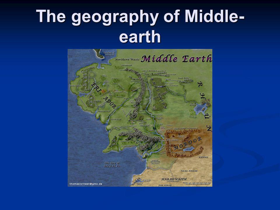 The geography of Middle-earth