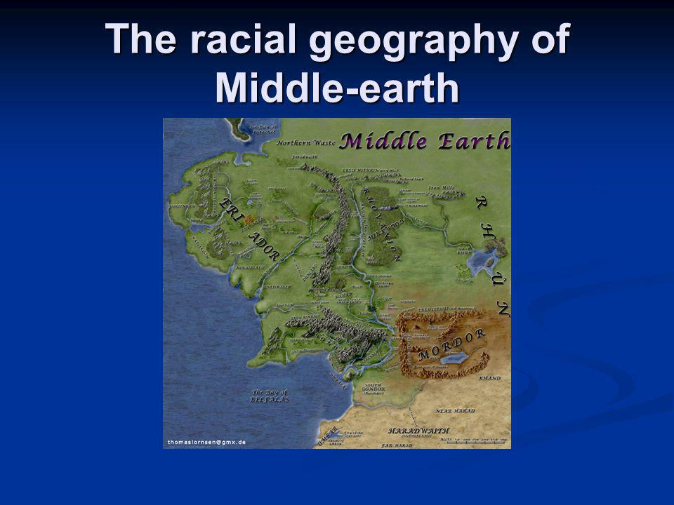 The racial geography of Middle-earth
