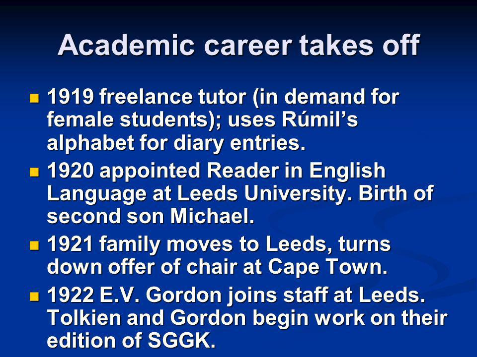 Academic career takes off