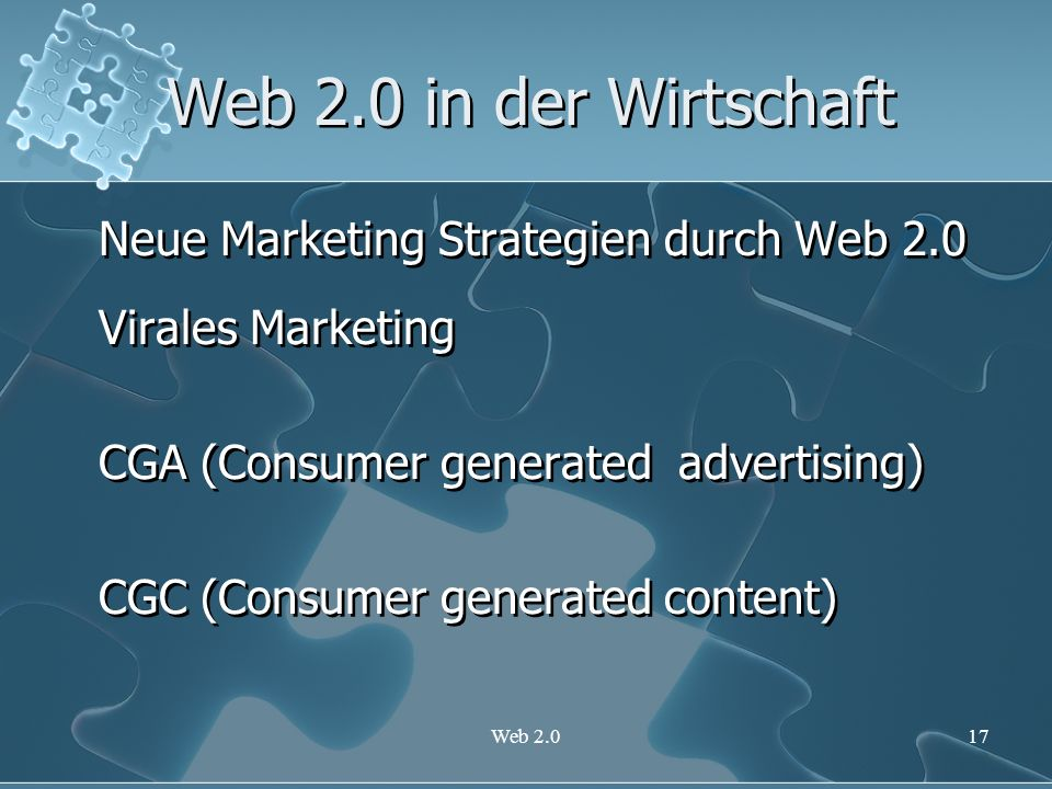 Web 2.0 in der Wirtschaft Neue Marketing Strategien durch Web 2.0