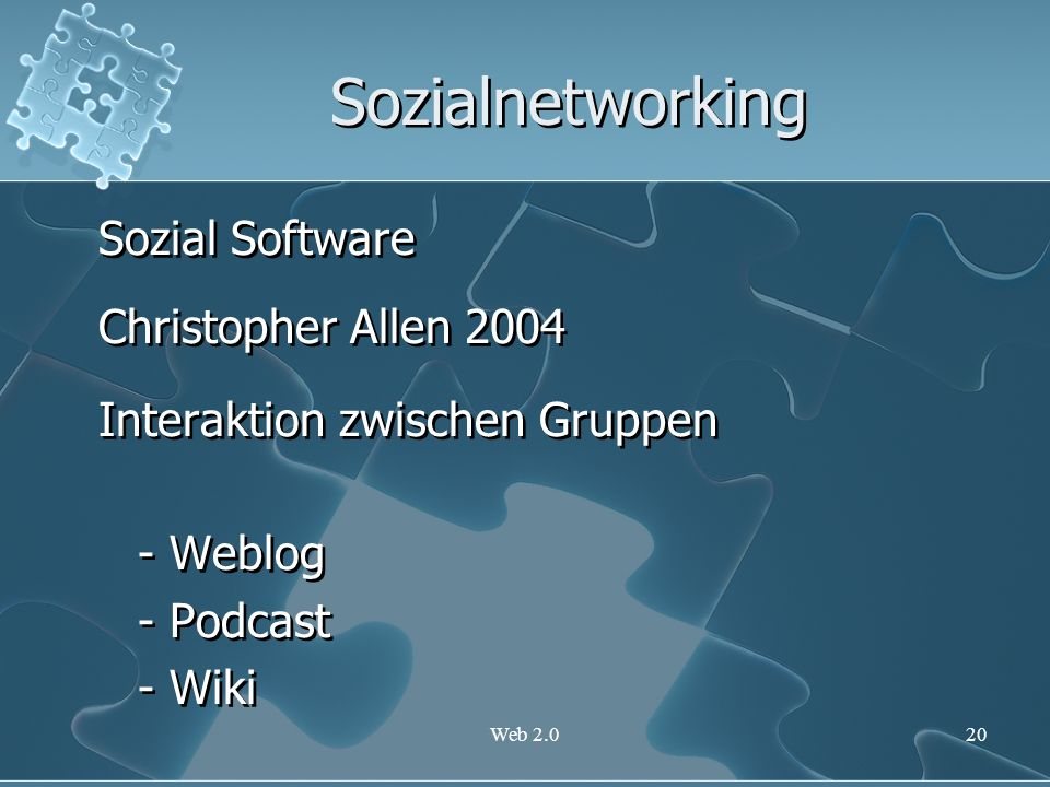 Sozialnetworking Sozial Software Christopher Allen 2004