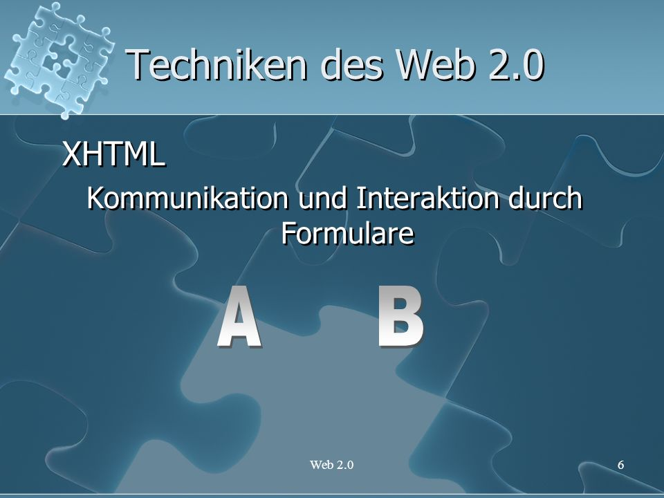 Kommunikation und Interaktion durch Formulare
