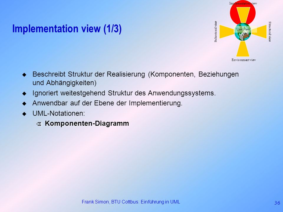 Implementation view (1/3)