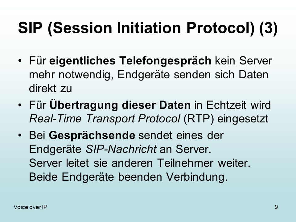 SIP (Session Initiation Protocol) (3)